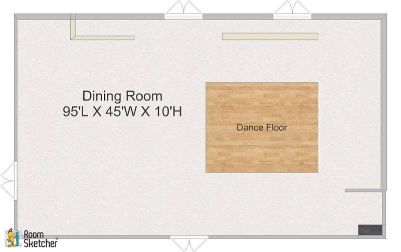 Victoria Palms Inn & Suites Dining Room Floor Plan