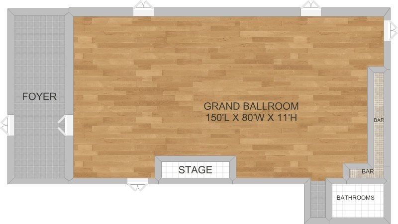 Victoria Palms Inn & Suites Grand Ballroom Floor Plan